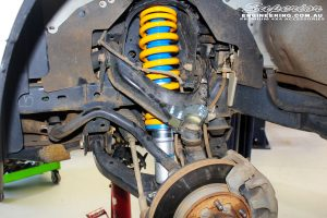 """Front left inside guard view of the fitted Superior Nitro Gas 3"""" Strut + Coil Spring"""