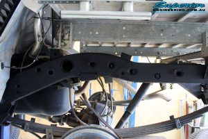 Rear right view of the fitted and completed Superior Chassis Brace on the MN Triton
