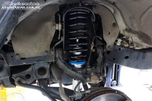 "Front left inside guard view of the fitted Superior 2"" Nitro Gas Strut with Coil Spring"