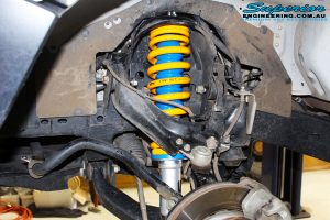 "Front right inside guard view of the fitted Superior 2"" Nitro Gas Strut + Coil Spring"