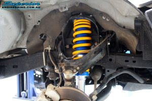 """Front left inside guard view of the fitted Superior 2"""" Nitro Gas Strut + Coil Spring"""