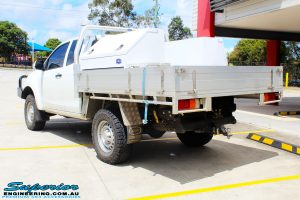 """Rear left view of a Silver Isuzu D-Max Dual Cab after fitment of a Superior Nitro Gas 2"""" Inch Lift Kit"""