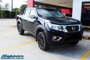 "Right front side view of a Nissan NP300 Navara Dual Cab before fitment of a Superior Nitro Gas 3"" Inch Lift Kit"