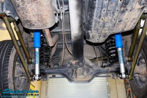 Mid rear shot looking back on the fitted Superior Upper & Lower Control Arms, Nitro Gas Shocks with Coil Springs