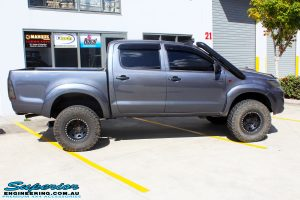 Right side view of a Grey Toyota Vigo Hilux before fitment of a range of Superior and various other brands suspension components