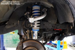 Right front inside view of the fitted Coil Spring with Superior Nitro Gas Front Strut & Chromoly Upper Control Arm