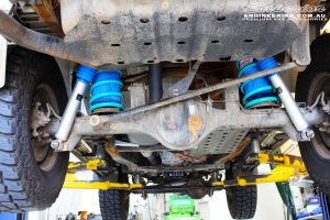 """Rear mid underbody shot of the fitted Superior 2"""" Nitro Gas Shocks with Coil Springs"""