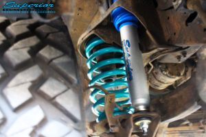 Right front inside view of the fitted Superior Nitro Gas Front Shock with Dobinson Coil Spring
