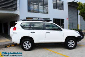 Right side view of a Toyota 150 Series Prado Wagon before fitment of a Ironman 4x4 45mm Suspension Lift