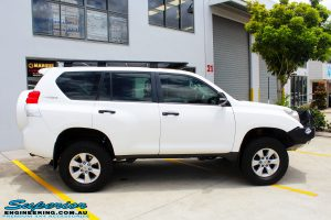 Right side view of a Toyota 150 Series Prado Wagon after fitment of a Ironman 4x4 45mm Suspension Lift