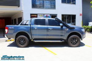 """Right side view of a Ford PXII Ranger in Grey before fitment of a Superior 2"""" Inch Remote Reservoir Lift Kit, Rhino 4x4 Evolution 3D Winch Bar + VRS Winch"""
