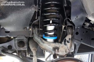 Front right inside guard view of the fitted Nitro Gas Front Strut + Coil Spring