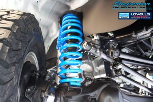 Front right inside guard view of the fitted Gas Legend Shock Absorber + Coil Spring