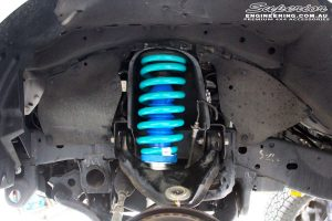 Inner left side guard view of the fitted Superior Nitro Gas Strut with Coil Spring