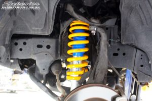 Left front inside view of the fitted Superior Nitro Gas Strut with King Coil Spring