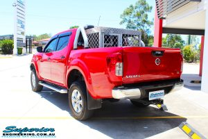"""Rear right view of a Nissan NP300 Navara Dual Cab after fitment of a Superior Nitro Gas 2"""" Inch Lift Kit"""