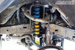 """Left front inside view of the fitted Bilstein 2"""" Front Strut with EFS Coil Spring"""