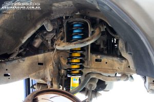 """Right front inside view of the fitted Bilstein 2"""" Front Strut with EFS Coil Spring"""