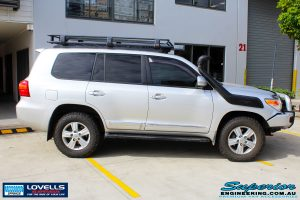 Right side view of a Toyota 200 Series Landcruiser before fitment of a Lovells GVM Upgrade Suitable For Toyota Landcruiser 200 11/07 on 4000kg (OE 3300kg) Post Registration
