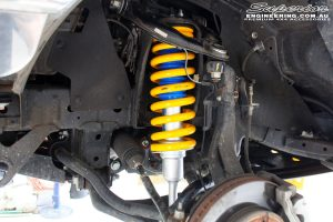 Front left inside view of the fitted Nitro Gas Front Strut + Coil Springs