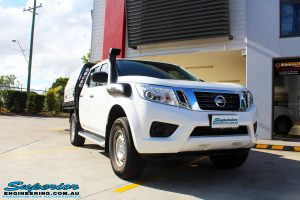 Right front side view of a Nissan NP300 Navara Dual Cab before fitment of a wide range of Superior 4wd Suspension and 4x4 Accessories
