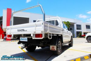 """Rear left view of a Toyota Vigo Hilux Dual Cab before fitment of a Superior Remote Reservoir 2"""" Inch Lift Kit with King Coil Springs"""