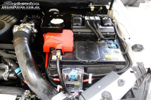 Front under bonnet view of the fitted Redarc setup for Dual Batteries