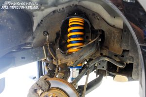 """Front right inside guard view of the fitted Superior Nitro Gas 2"""" Strut + King Coil Spring"""