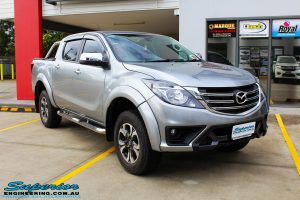 """Right front side view of a Mazda BT50 Dual Cab in Silver before fitment of a Superior Nitro Gas 2"""" Inch Lift Kit with King Coil Springs"""
