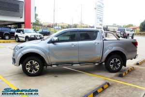 """Left side view of a Mazda BT50 Dual Cab in Silver before fitment of a Superior Nitro Gas 2"""" Inch Lift Kit with King Coil Springs"""