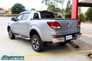 """Rear left view of a Mazda BT50 Dual Cab in Silver after fitment of a Superior Nitro Gas 2"""" Inch Lift Kit with King Coil Springs"""