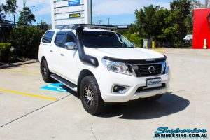 """Right front side view of a Nissan NP300 Navara Dual Cab before fitment of a Bilstein 2"""" Inch Lift Kit with King Coil Springs"""
