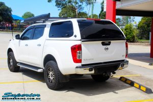 "Rear left view of a Nissan NP300 Navara Dual Cab after fitment of a Bilstein 2"" Inch Lift Kit with King Coil Springs"