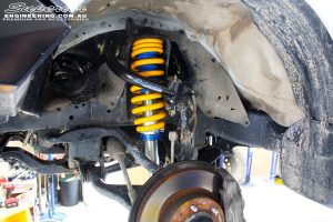 Left front inside view of the fitted Coil Spring with Superior Nitro Gas Strut & Superior Upper Control Arm