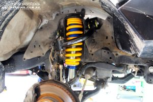 Right front inside view of the fitted Coil Spring with Superior Nitro Gas Strut & Superior Upper Control Arm