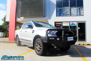 """Right front side view of a Silver Ford PXII Ranger before fitment of a Superior Nitro Gas 2"""" Inch Lift Kit with King Springs & EFS Springs"""