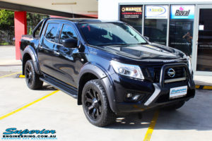 """Right front side view of a Nissan NP300 Navara Dual Cab before fitment of a Superior Nitro Gas 2"""" Inch Lift Kit with King Coil Springs"""