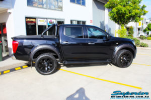 "Right side view of a Nissan NP300 Navara Dual Cab before fitment of a Superior Nitro Gas 2"" Inch Lift Kit with King Coil Springs"