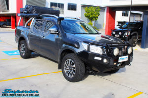 """Right front side view of a Nissan NP300 Navara Dual Cab before fitment of a 2"""" Inch Lift Kit"""