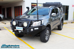 """Left front side view of a Nissan NP300 Navara Dual Cab after fitment of a 2"""" Inch Lift Kit"""