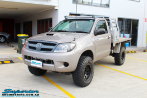 """Right front side view of a Toyota Vigo Hilux Single Cab in Grey after fitment of a Superior Nitro Gas 2"""" Inch Lift Kit with King Coil Springs"""