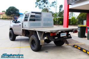 """Rear right view of a Toyota Vigo Hilux Single Cab in Grey after fitment of a Superior Nitro Gas 2"""" Inch Lift Kit with King Coil Springs"""
